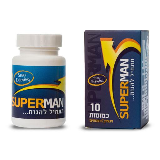 סופרמן 10 טבליות - תחליף ויאגרה